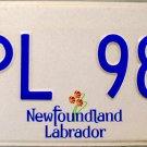 2016 Newfoundland & Labrador License Plate Canada (HPL 982)
