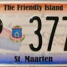 2011 St. Maarten License Plate (P 3771)