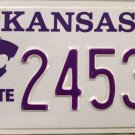 2013 Kansas: Kansas State University License Plate (24534)