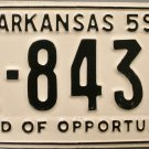 1959 Arkansas License Plate (1-8439)