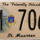 2010 st. Maarten License Plate (M 7067)
