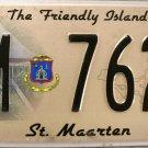 2010 St. Maarten License Plate (M 7629)