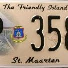 2010 St. Maarten License Plate (P 3583)