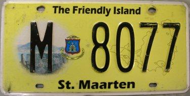 2012-2013 St. Maarten License Plate (M 8077)