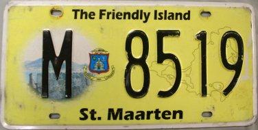 2012-2013 St. Maarten License Plate (M 8519)