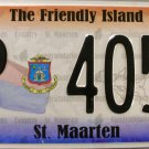 2011 St. Maarten License Plate (P 4054)