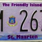 2014 St. Maarten License Plate (M 2674)