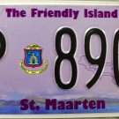 2014 St. Maarten License Plate (P 8906)