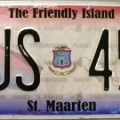 2011 St. Maarten Bus License Plate (BUS 45)