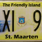 2012-2013 St. Maarten Taxi License Plate (TAXI 91)