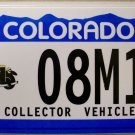 2003 Colorado Collector Vehicle License Plate (08M14)