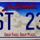 2007 South Dakota License Plate (1ST 232)