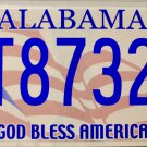 2009 Alabama God Bless America License Plate (AT87322)