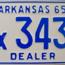1965 Arkansas Dealer License Plate (Ex3438)