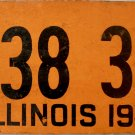 "1948 Illinois ""Fiberboard"" License Plate (1138 348)"