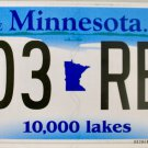 2016 Minnesota License Plate (803 REK)