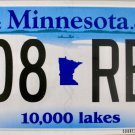2016 Minnesota License Plate (508 REL)
