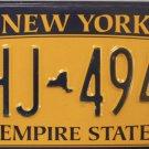New York License Plate (GHJ 4943)
