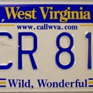 2012 West Virginia License Plate (4CR 811)