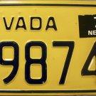 1979 Nevada License Plate (79874X)