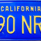 1977 California License Plate (590 NRJ)