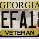 "2016 Georgia Veteran License Plate ""New Design"" (EFA189)"