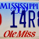 Mississippi: University of Mississippi (Ole Miss) License Plate (14R88)