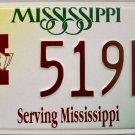 Mississippi: Mississippi State University License Plate (519M6)