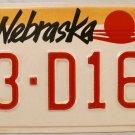 1990 Nebraska License Plate (53-D169)