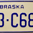 1987 Nebraska License Plate (53-C686)