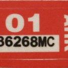 Arkansas: Motorcycle Plate Year Sticker (2001)