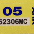 Arkansas: Motorcycle Plate Year Sticker (2005)