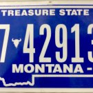 2017 Montana License Plate (7-42913B)