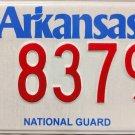 2016 Arkansas National Guard License Plate (8379)