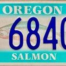 2016 Oregon Salmon License Plate (SL 68403)
