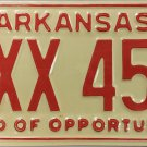 1978 Arkansas License Plate (EXX 456)