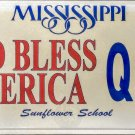 2003 Mississippi God Bless America License Plate (Q93)
