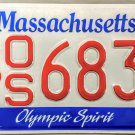 Massachusetts Olympic Spirit License Plate (OS 6838)
