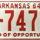 1964 Arkansas License Plate (5-7477)