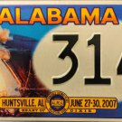 2007 Huntsville, Alabama ALPCA 53rd Convention License Plate (314)