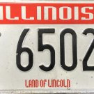 Illinois Firefighters Memorial License Plate (6502 FF)