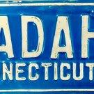 1963 Connecticut Vanity License Plate (ADAH)