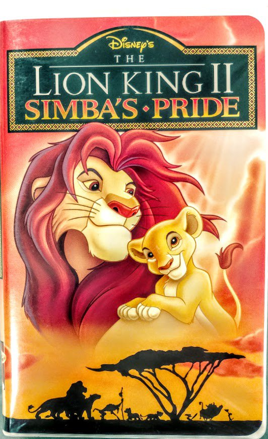 vhs  walt disney home video the lion king ii simba u0026 39 s pride
