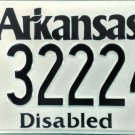 Arkansas Disabled License Plate (322247)