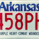 Arkansas Purple Heart - Combat Wounded License Plate (5458PH)