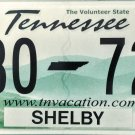 2017 Tennessee License Plate (Z30 72H)