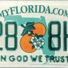 2012 Florida In God We Trust License Plate (4258 8HU)