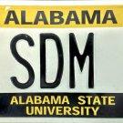 2002 Alabama: Alabama State University License Plate (SDM 1)