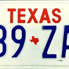 1993 Texas License Plate (289 ZAP)