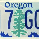 2017 Oregon License Plate (817 GQW)